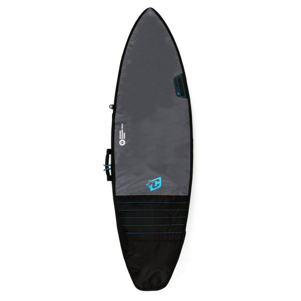 FUNDA CREATURES 5'8'' SHORTBOARD DAY USE - CHARCOAL CYAN - DAY USE SHORTBOARD
