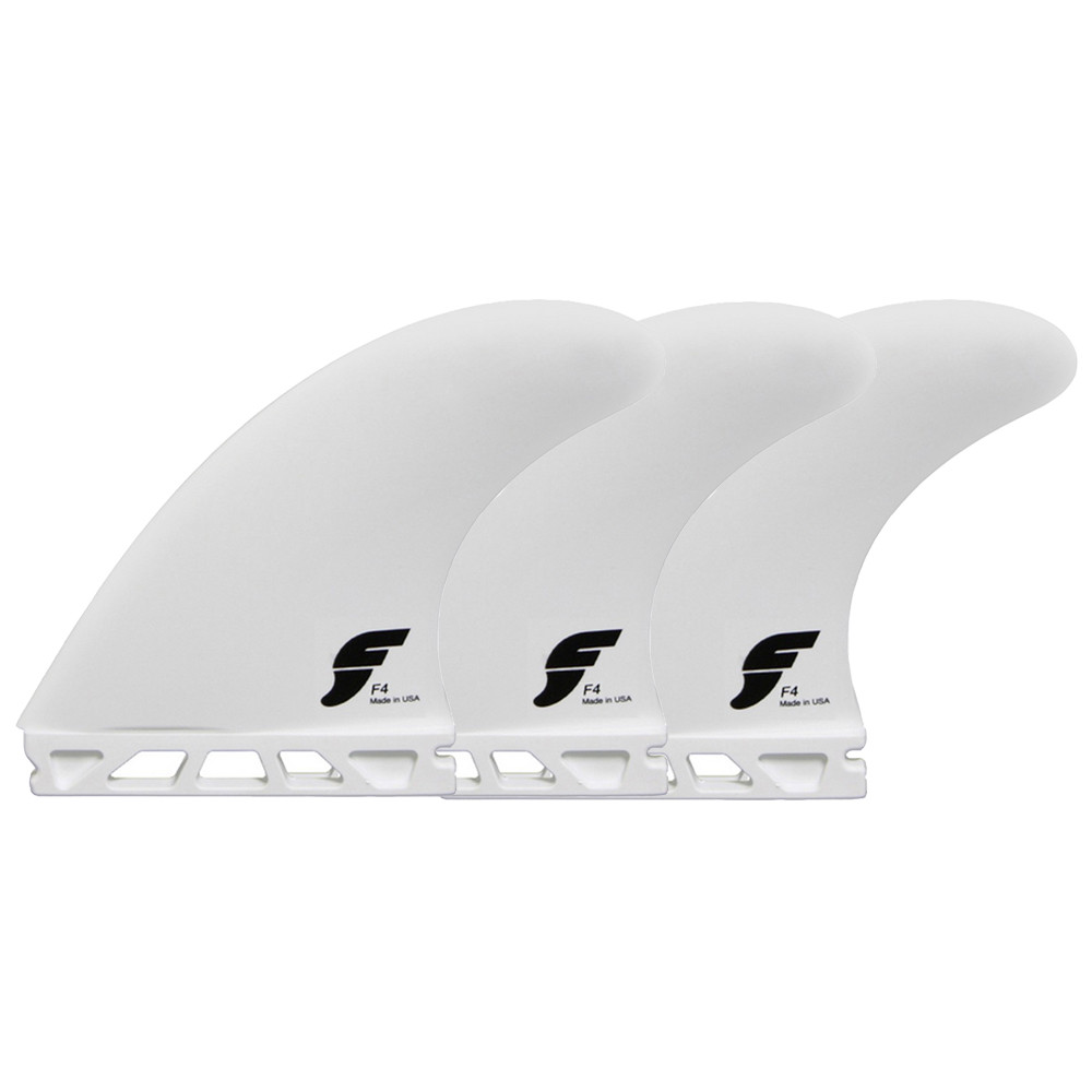 QUILLAS FUTURES F4 THERMOTECH TRI-FINS - WHITE