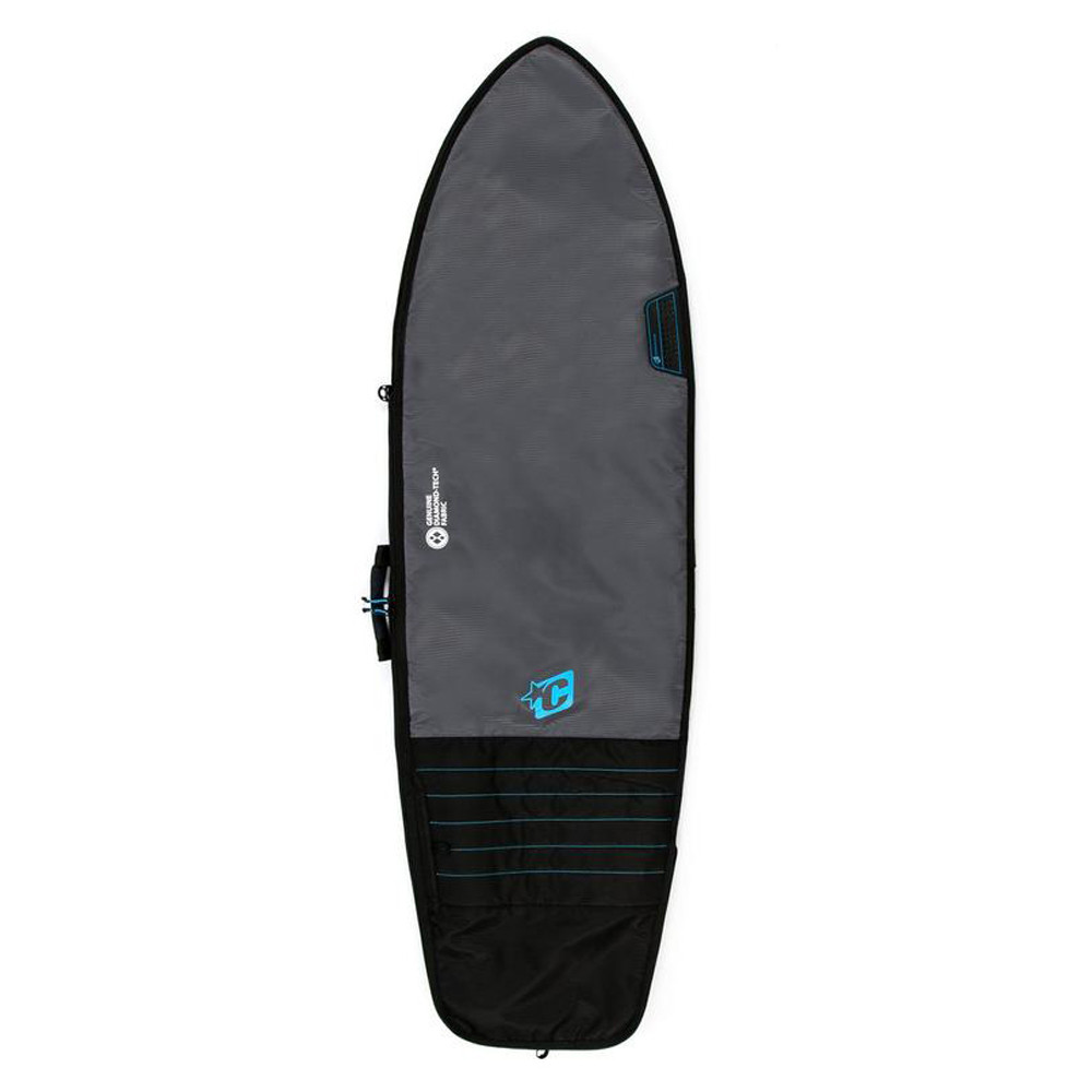 FUNDA CREATURES RETRO FISH 5'10'' - CHARCOAL/CYAN