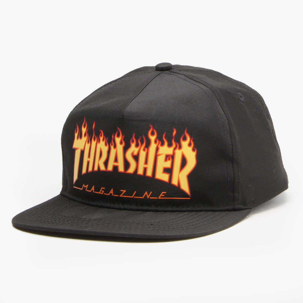 GORRA THRASHER FLAME LOGO - BLACK