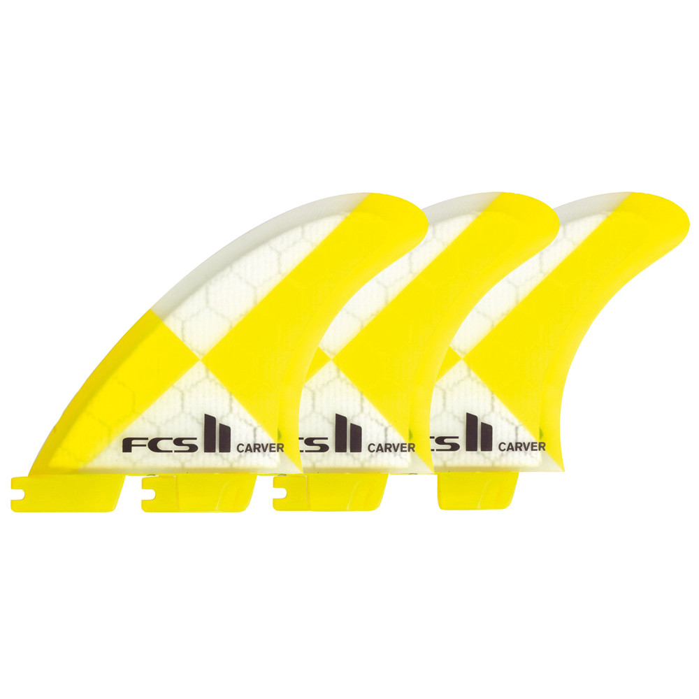 QUILLAS FCS II CARVER PC M TRI-FINS - YELLOW