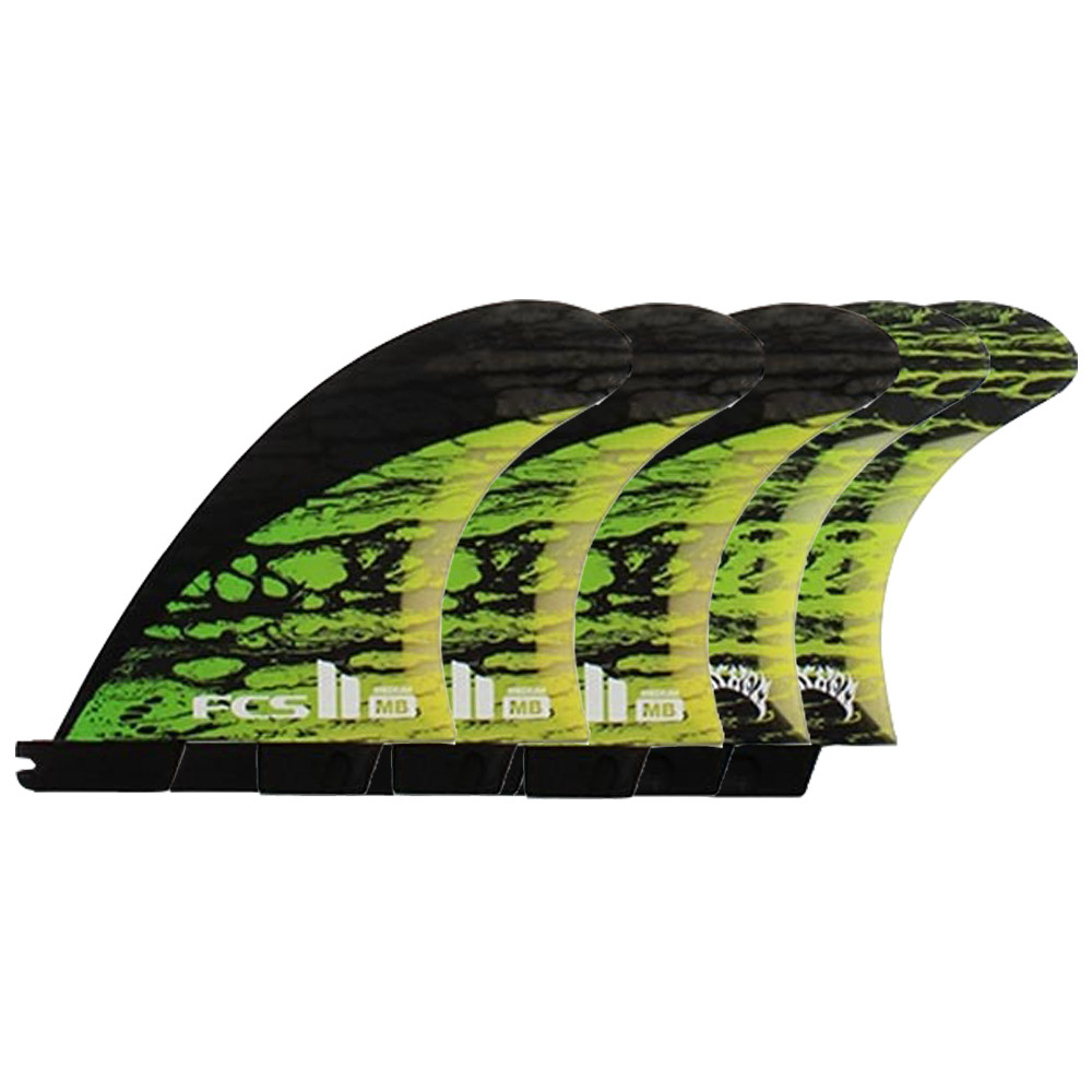 QUILLAS FCS II MB PC CARBON GREEN M TRI-QUAD