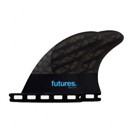 QUILLAS FUTURES QD2 REAR FINS BLACKSTICK