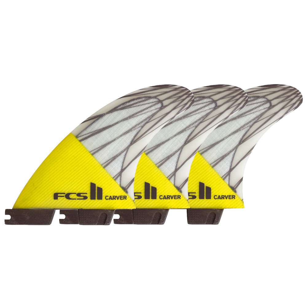 FCS II CARVER PC CARBON M - YELLOW FINS