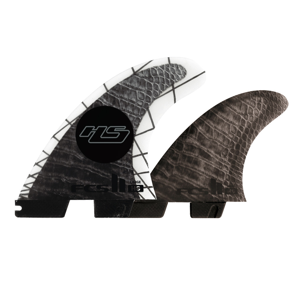 FCS II HAYDEN SHAPES PC CARBON L TRI-QUAD FINS
