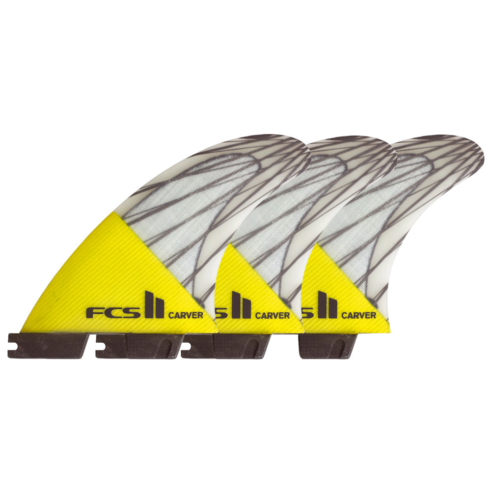 FCS II CARVER PC CARBON L - YELLOW FINS