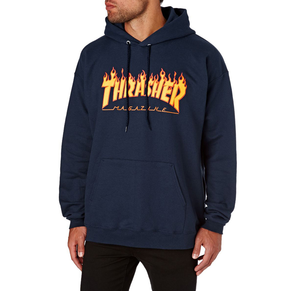 THRASHER FLAME LOGO HOODIES