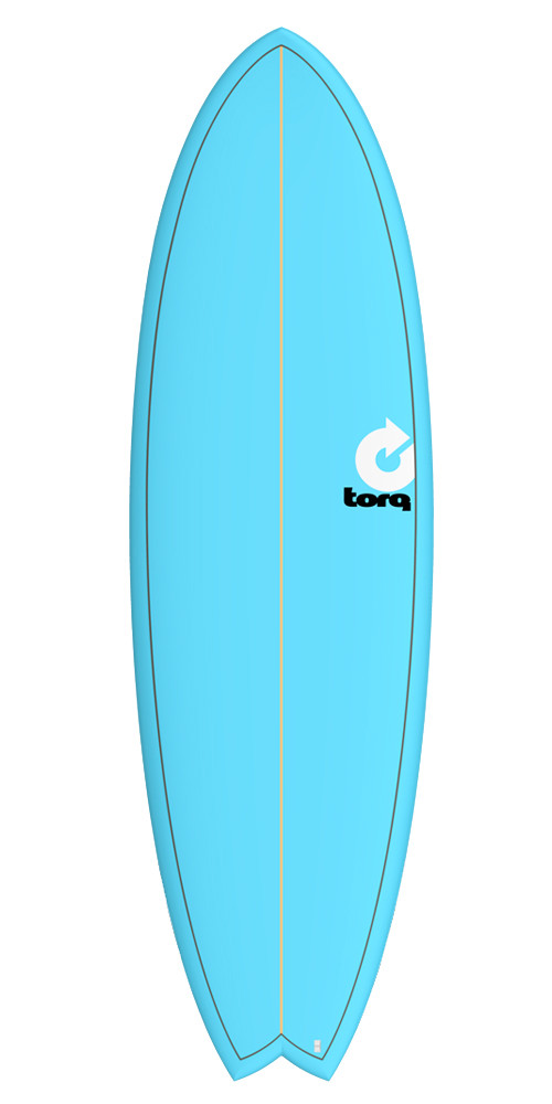 TORQ FISH COLORED SURFBOARD