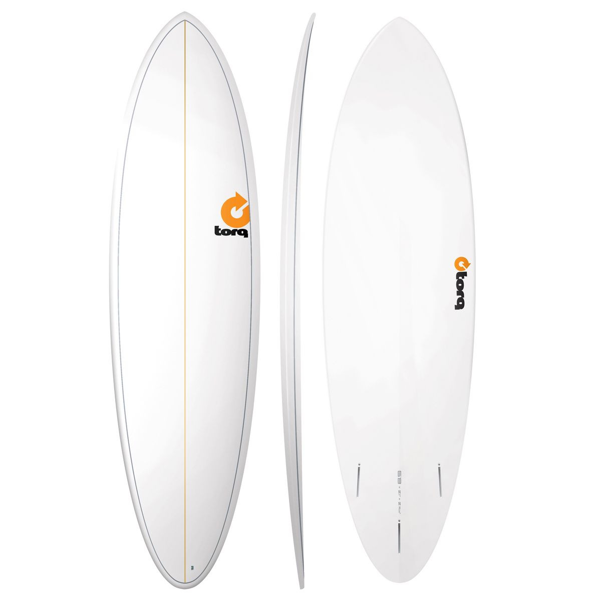 TORQ FUN PINLINE - WHITE SURFBOARD