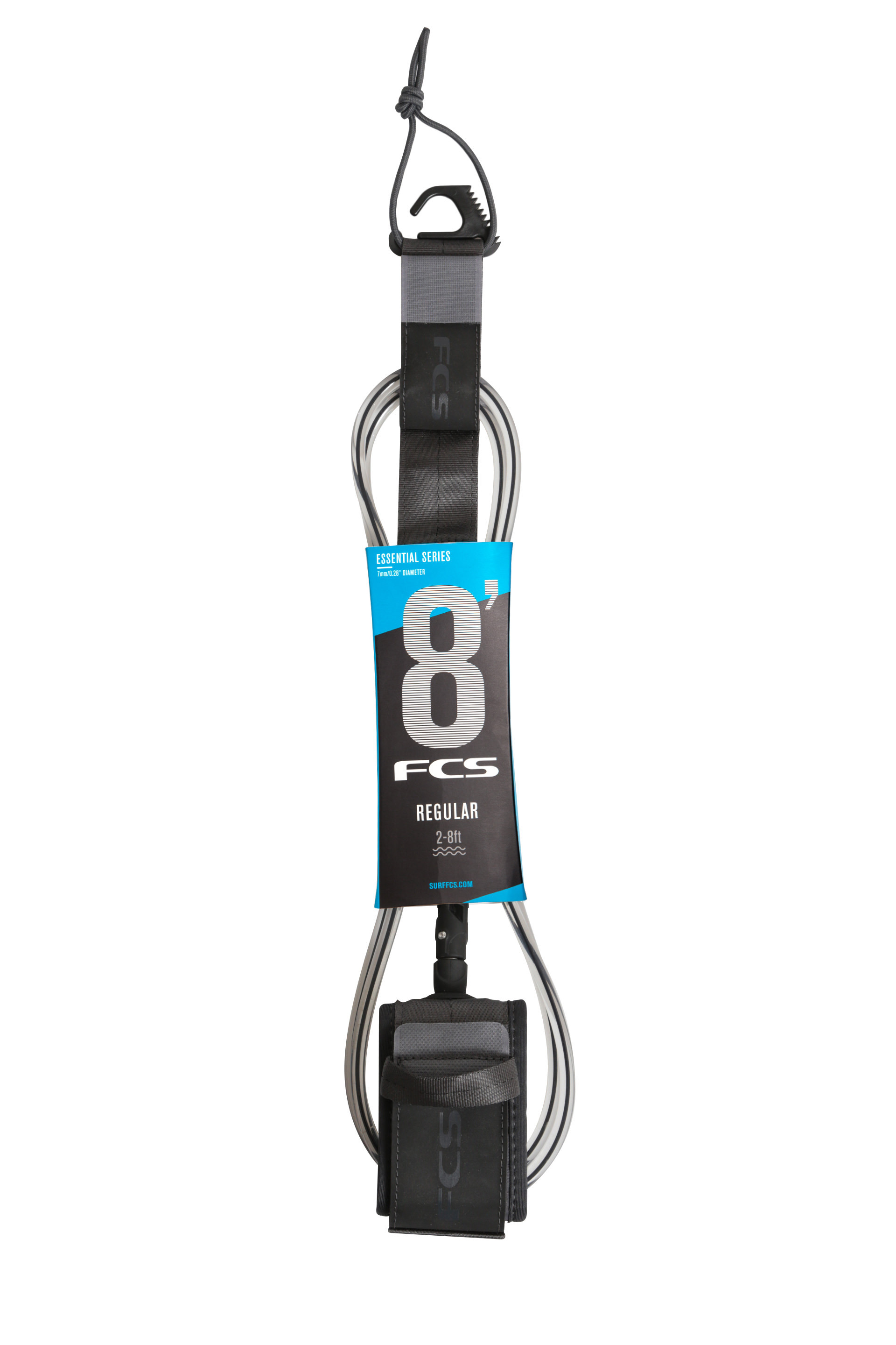 FCS 8' REG ESSENTIAL - COAL LEASH