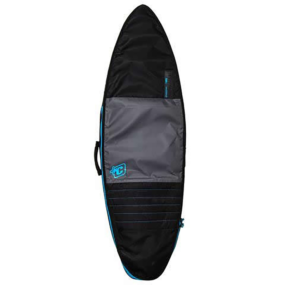 CREATURES 6'7'' SHORTBOARD DAY USE - CHARCOAL/CYAN BAG