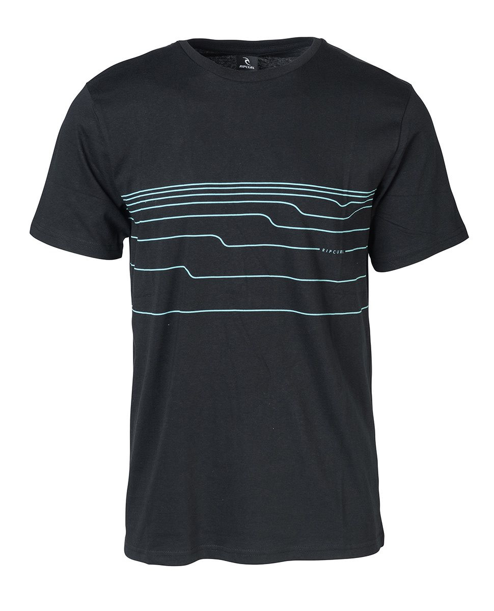 RIP CURL DISTORT LINES TEE  T-SHIRT